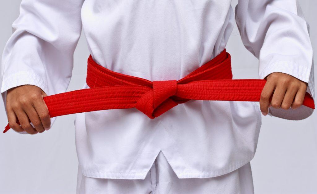 Taekwondo suit.