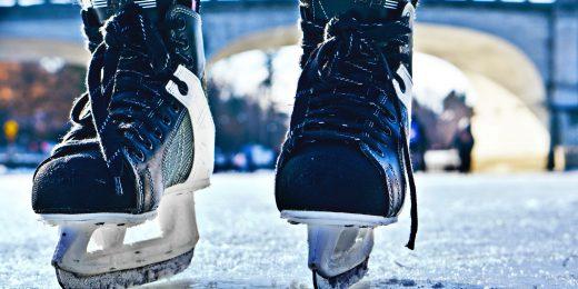 skridskor på isbana